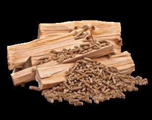 Holz wird zu Pellets